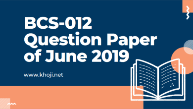 BCS-012 June 2019 Question Paper in PDF