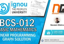 BCS-012 June 2019 Question 5c Solution Linear Programming