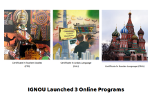 IGNOU Lanuched 3 Online Certificate Prorgammes
