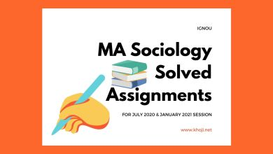 MA Sociology Solved Assignments 2020-2021