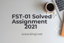 IGNOU FST-01 Solved Assignment 2021 English Medium
