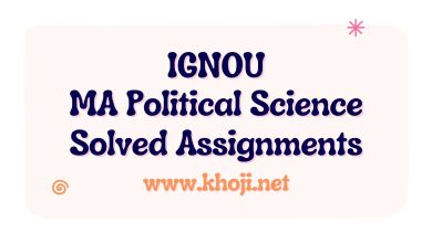 IGNOU MA Political Science Solved Assignments