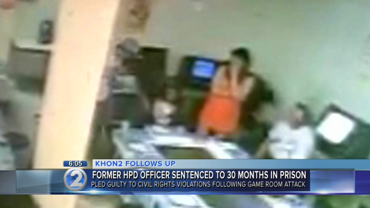 Former Honolulu police officer sentenced to 30 months in prison for civil rights violations