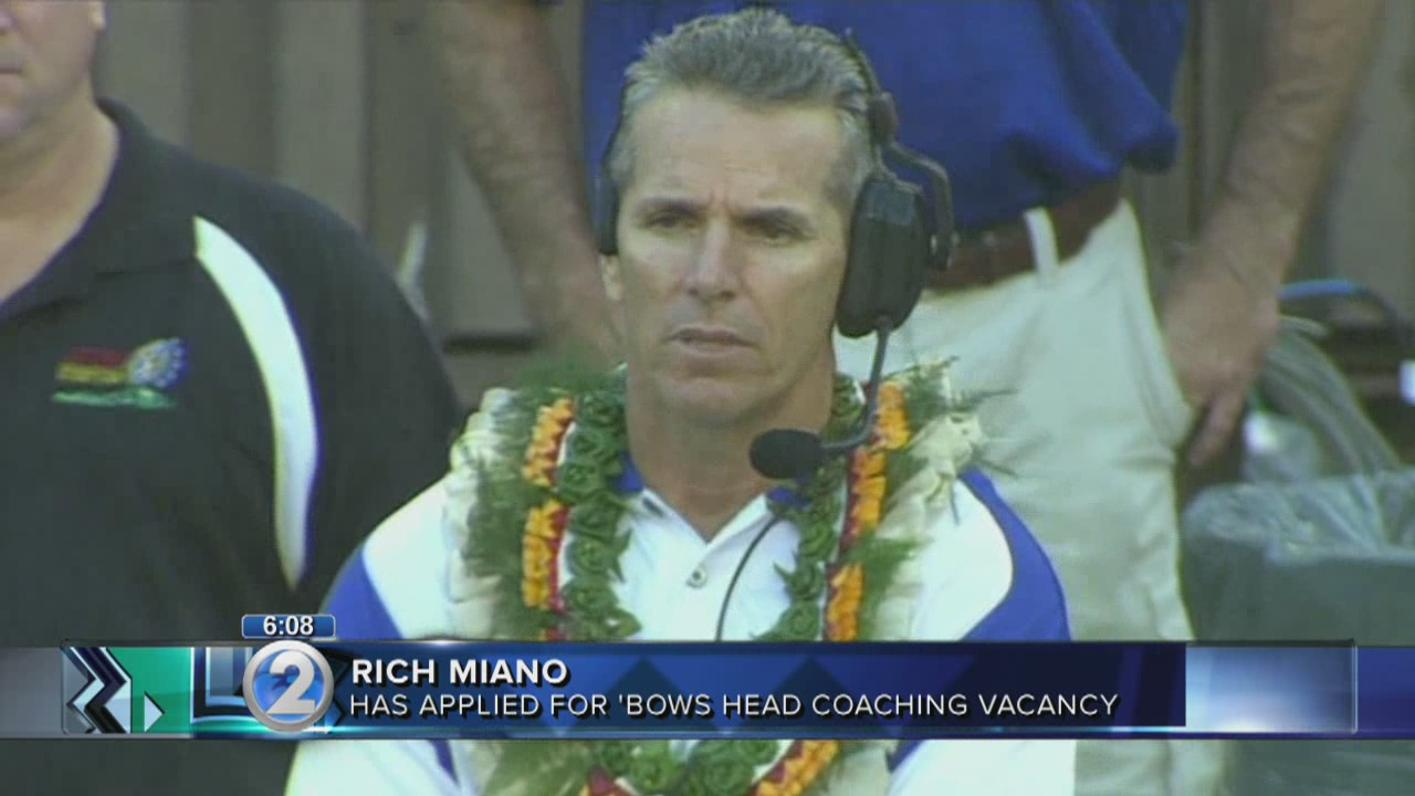Former UH coach Rich Miano applies for head coaching job