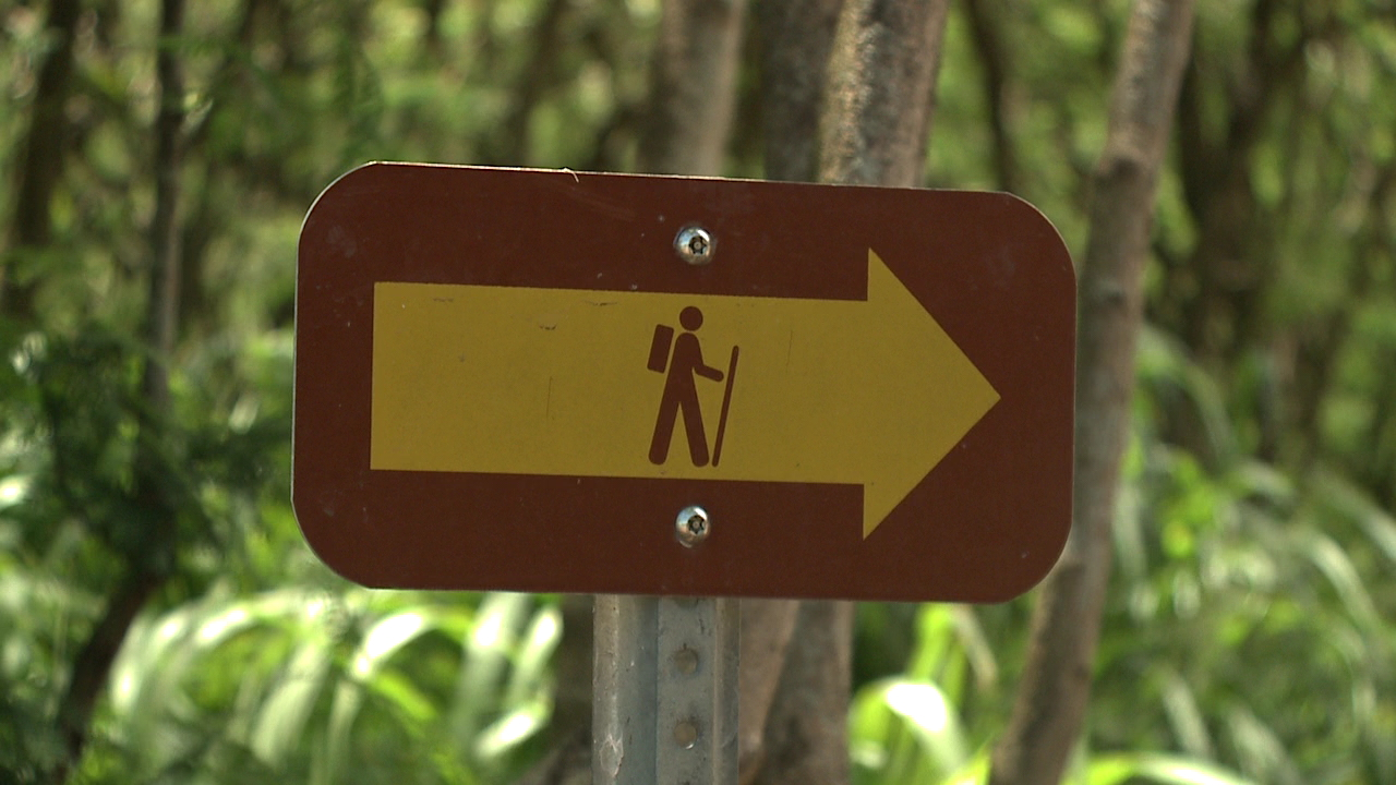 hiking trail sign kuliouou_160601
