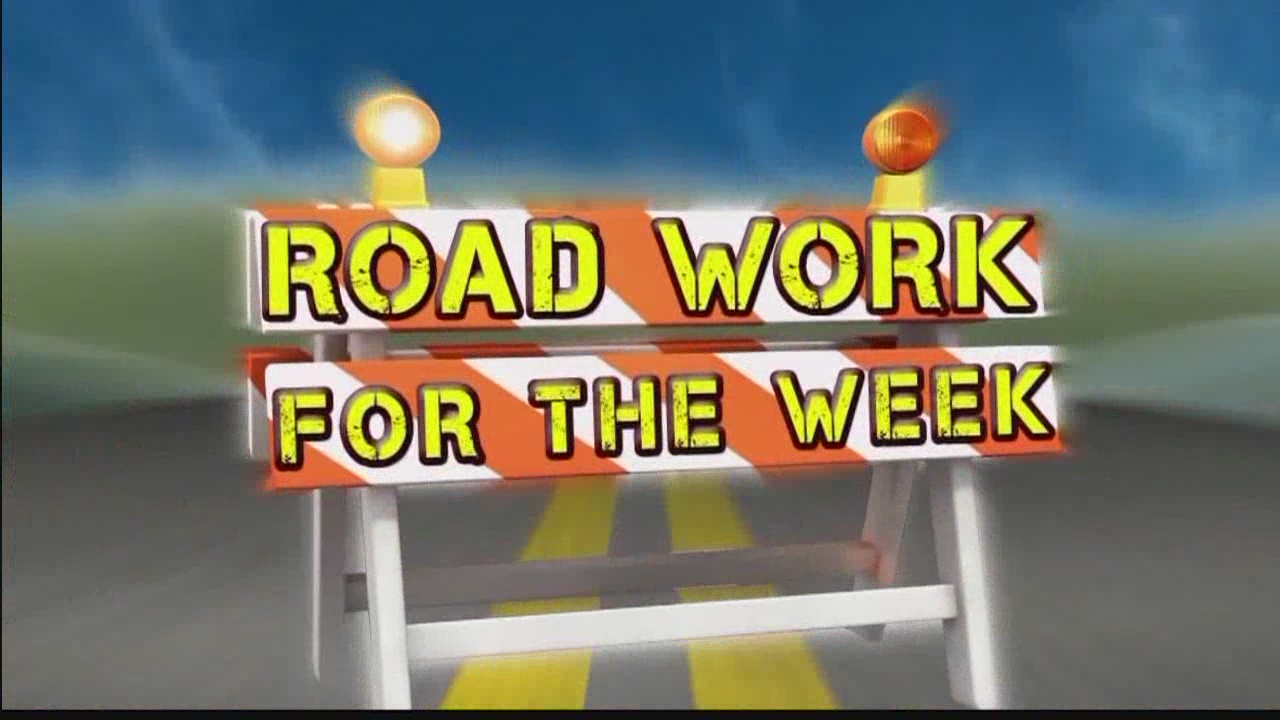 Road Work for the Week, Aug. 28-Sept. 2