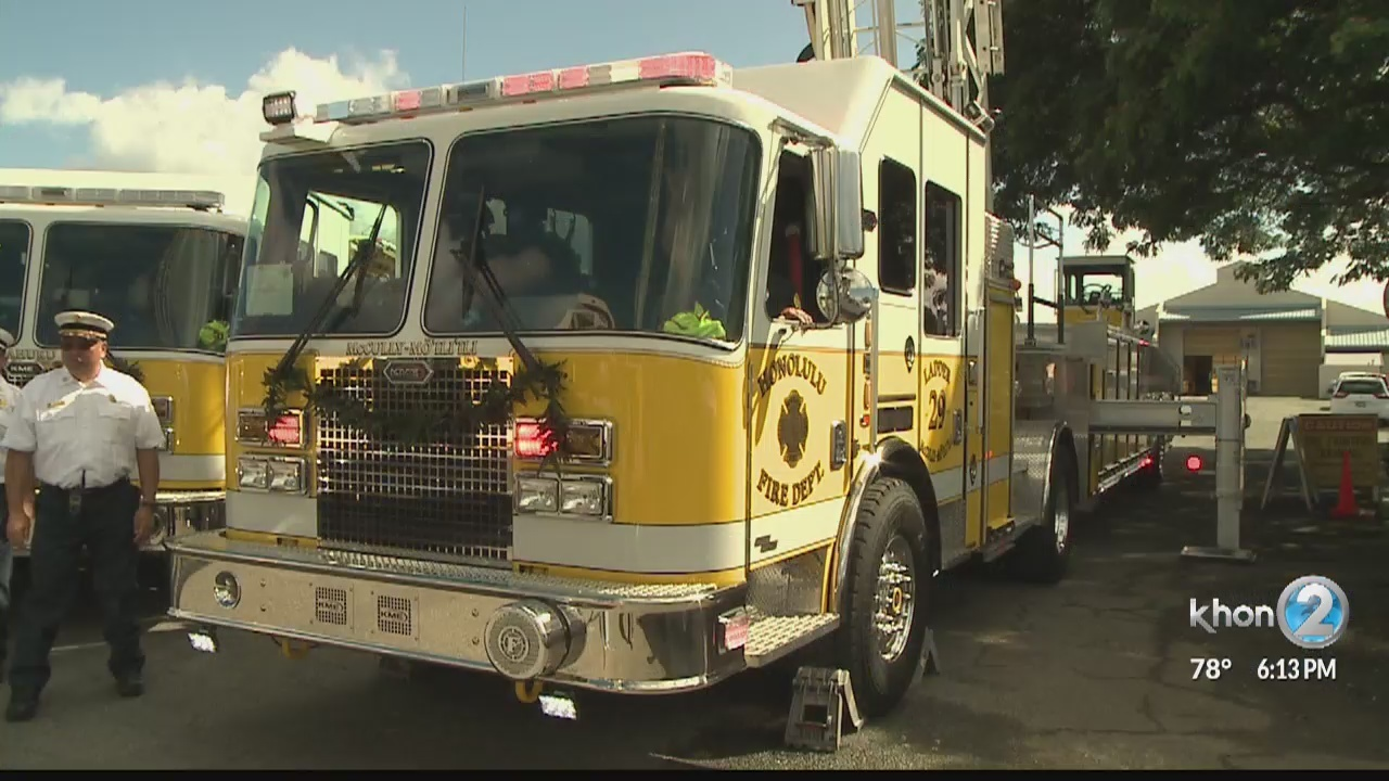 Honolulu Fire Department welcomes state-of-the-art additions to fleet