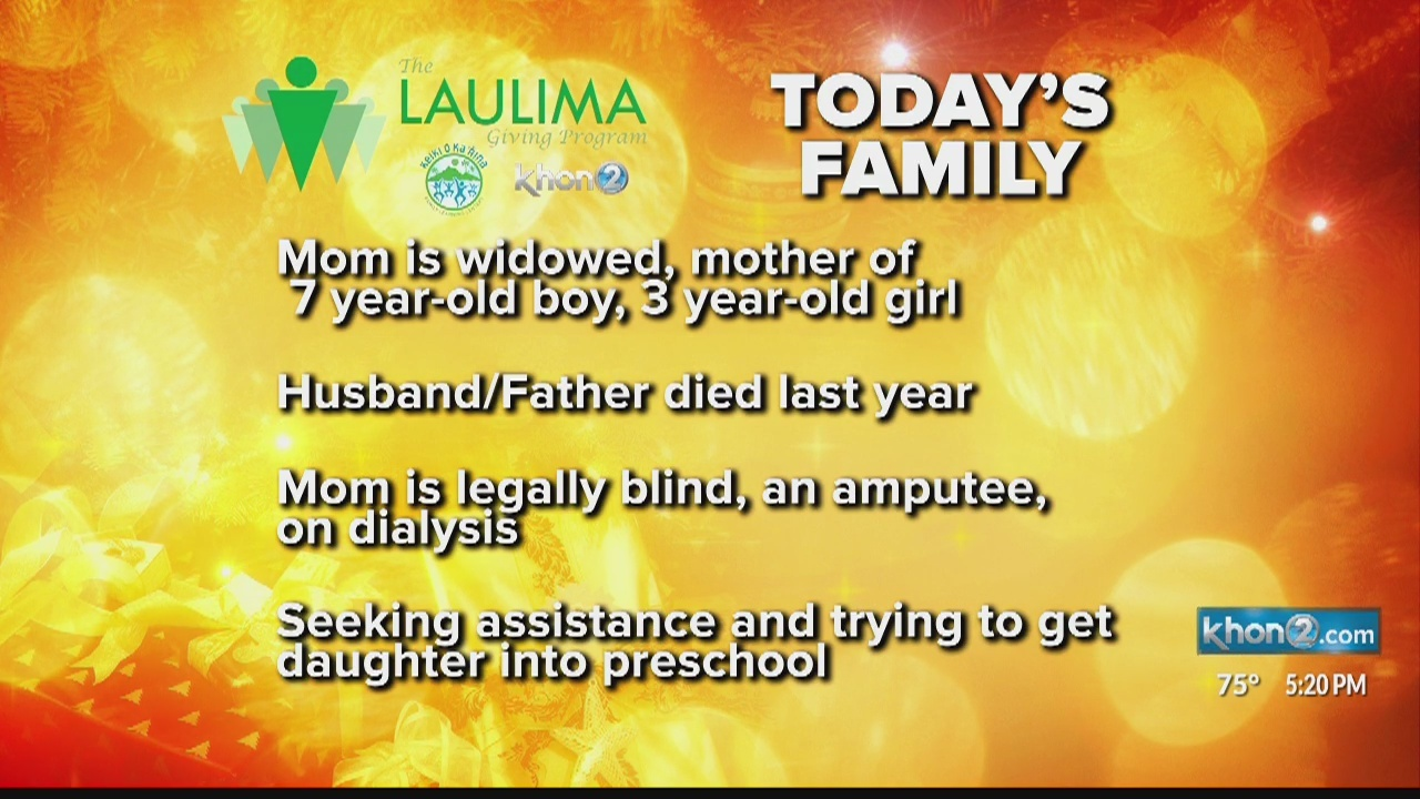 Disabled mother of two struggles after loss of husband