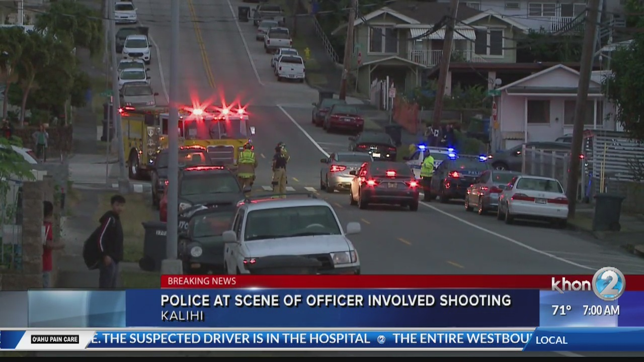 Officer involved shooting in Kalihi leaves one dead