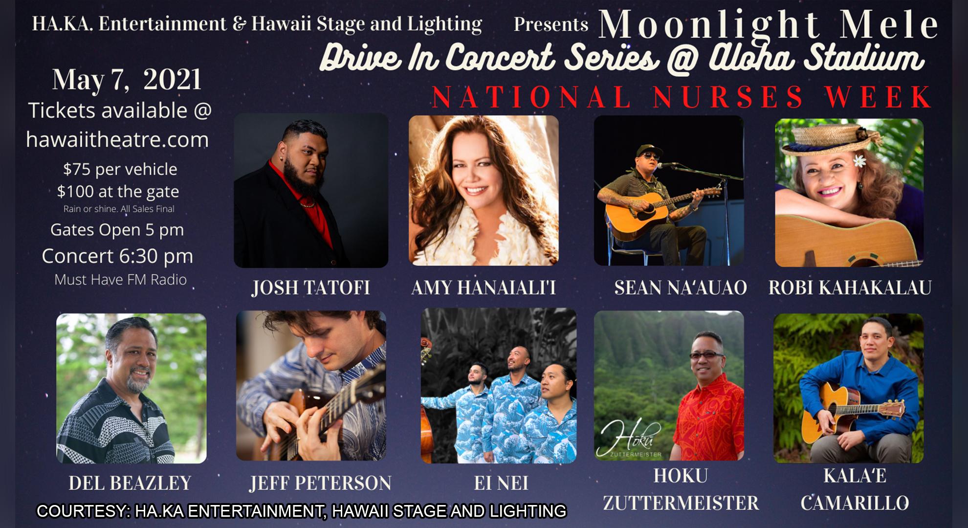 aloha stadium drive in concert to