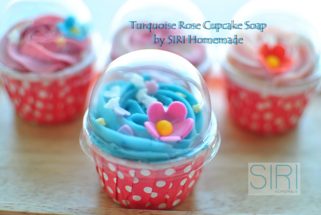Turquoise Cupcake Soap