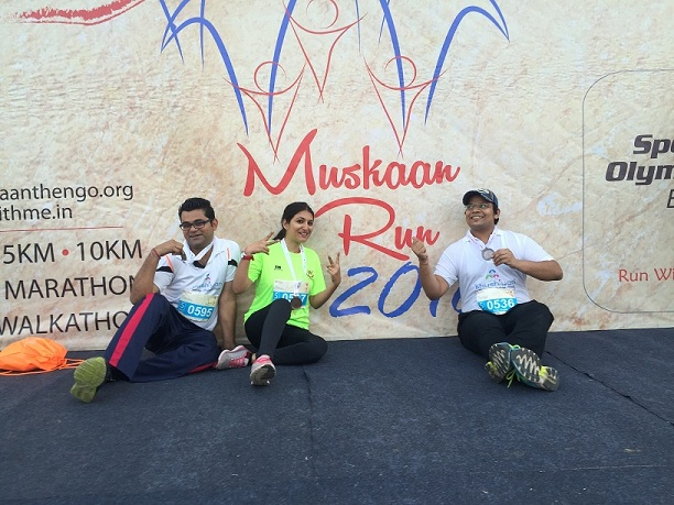 Khushiyan participated in Muskaan Run 2016