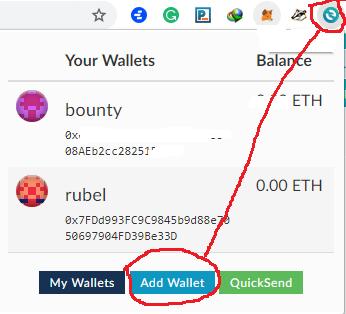 add wallet
