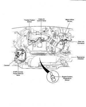 Engine diagram showing throttle body? 2000 Sportage  Kia Forum