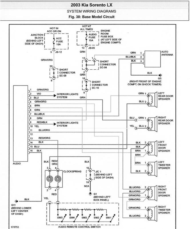 2008 kia sportage radio wiring diagram 2008 image kia radio wiring diagram kia wiring diagrams on 2008 kia sportage radio wiring diagram