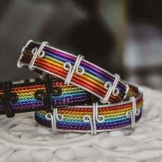 Pride szivárvány színű merev karperec