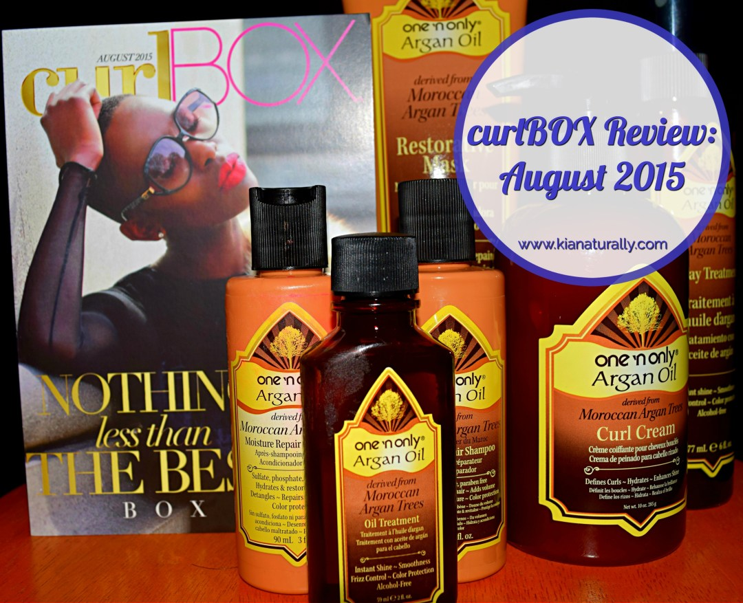curlBOX Review: August 2015 - www.kianaturally.com