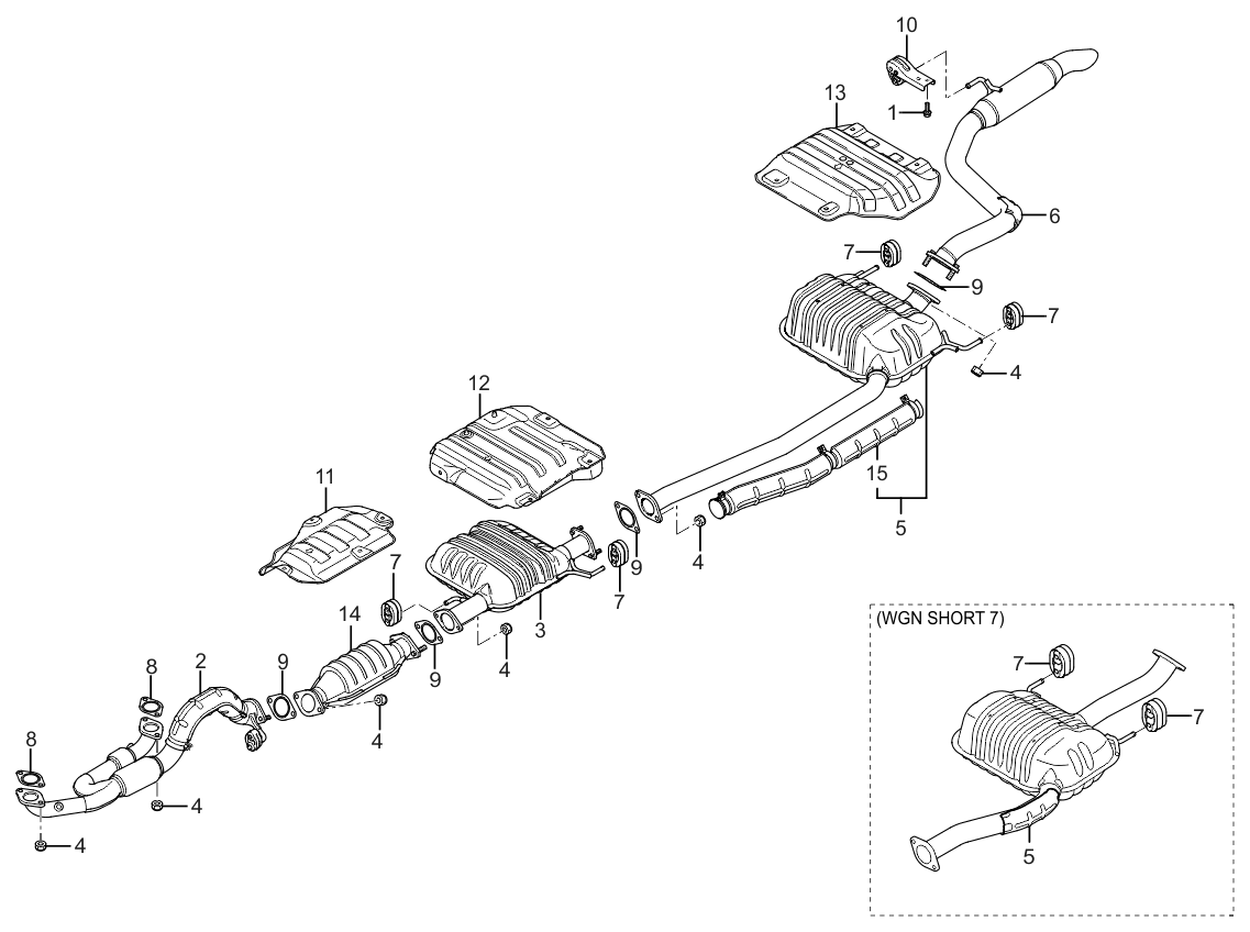 Kia Sedona Produced Before Oct Muffler Amp Exhaust