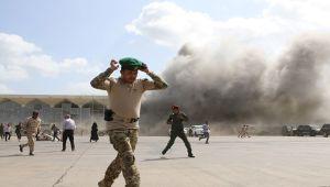 Η έκρηξη στο αεροδρόμιο Aden … Ο αριθμός των νεκρών αυξήθηκε σε 25