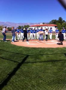 BUHS Varsity Baseball Team Tributes Karl Riesen and Family