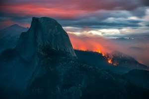 Meadow Fire Half Dome Yosemite
