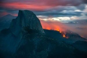 Meadow Fire Half Dome Yosemite