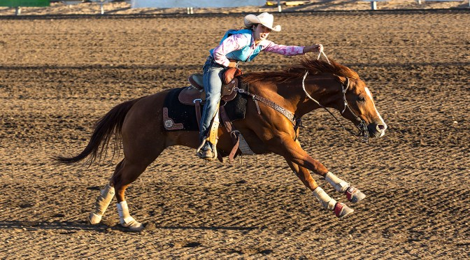 Kayla Inderbieten rides at Nationals