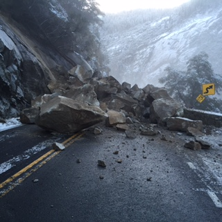 Yosemite Rock Slide