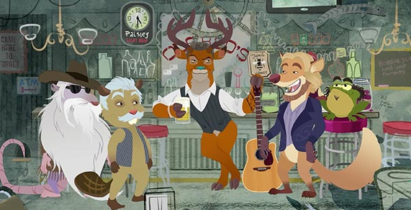 "Blake Shelton and The Oak Ridge Boys Get 'Animated' in ""Doing It to Country Songs"""
