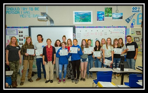 Bishop Union High School Students Receive Awards From Caltrans