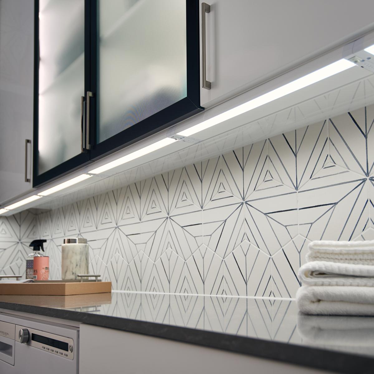 4u 22 3000k led cabinet light textured white