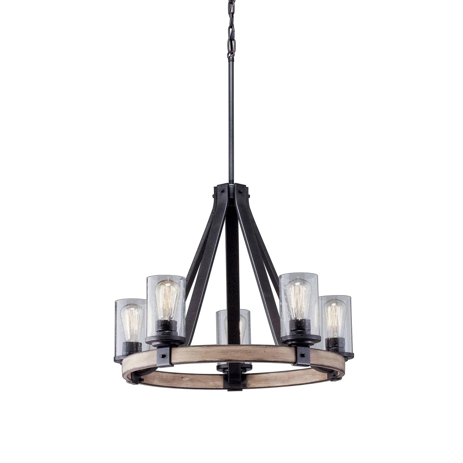 barrington 5 light chandelier anvil iron