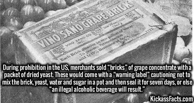 1937 Prohibition wine bricks