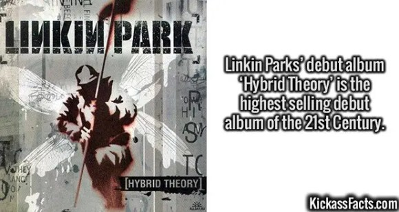 2538 Hybrid TheoryLinkin Parks' debut album 'Hybrid Theory' is the highest selling debut album of the 21st Century.