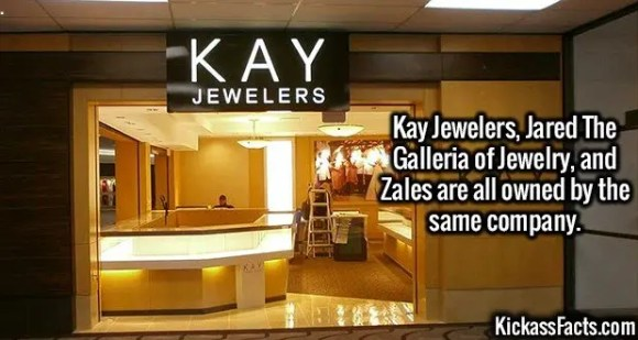 2621 Kay Jewelers-Kay Jewelers, Jared The Galleria of Jewelry, and Zales are all owned by the same company.