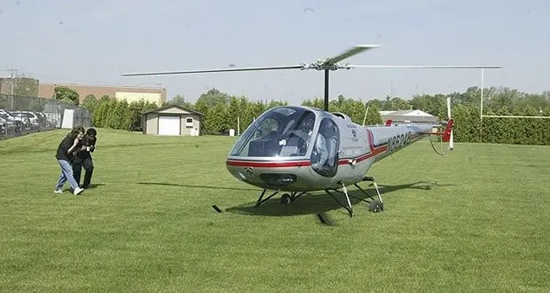 Helicopter to School