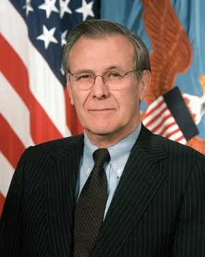 Secretary of Defense Donald H. Rumsfeld