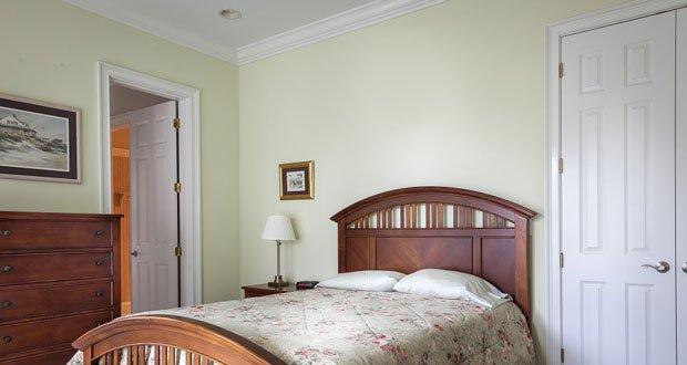 Close bedroom door at night