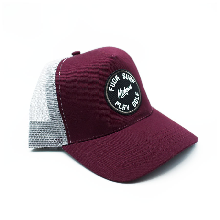 casquette fuck surf play golf trucker burgundy
