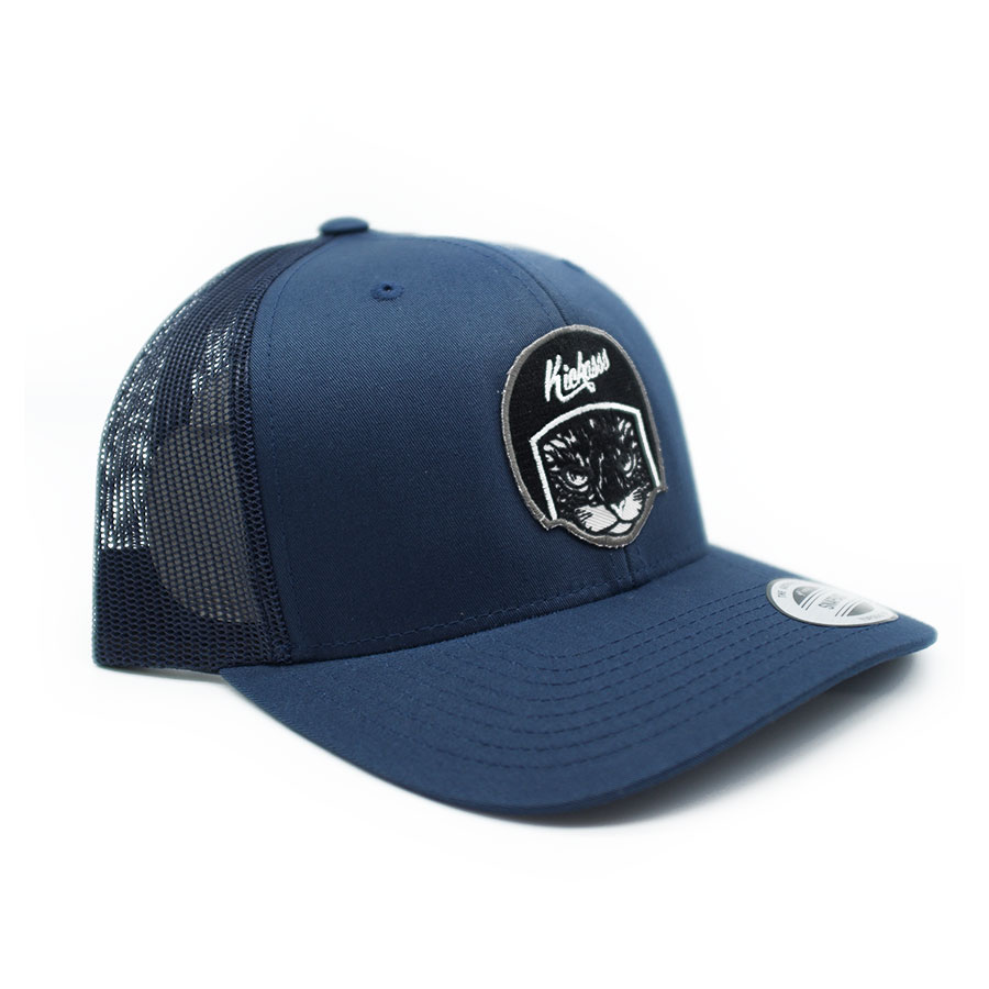 Casquette trucker Deluxe Kickasss Cool Cat navy