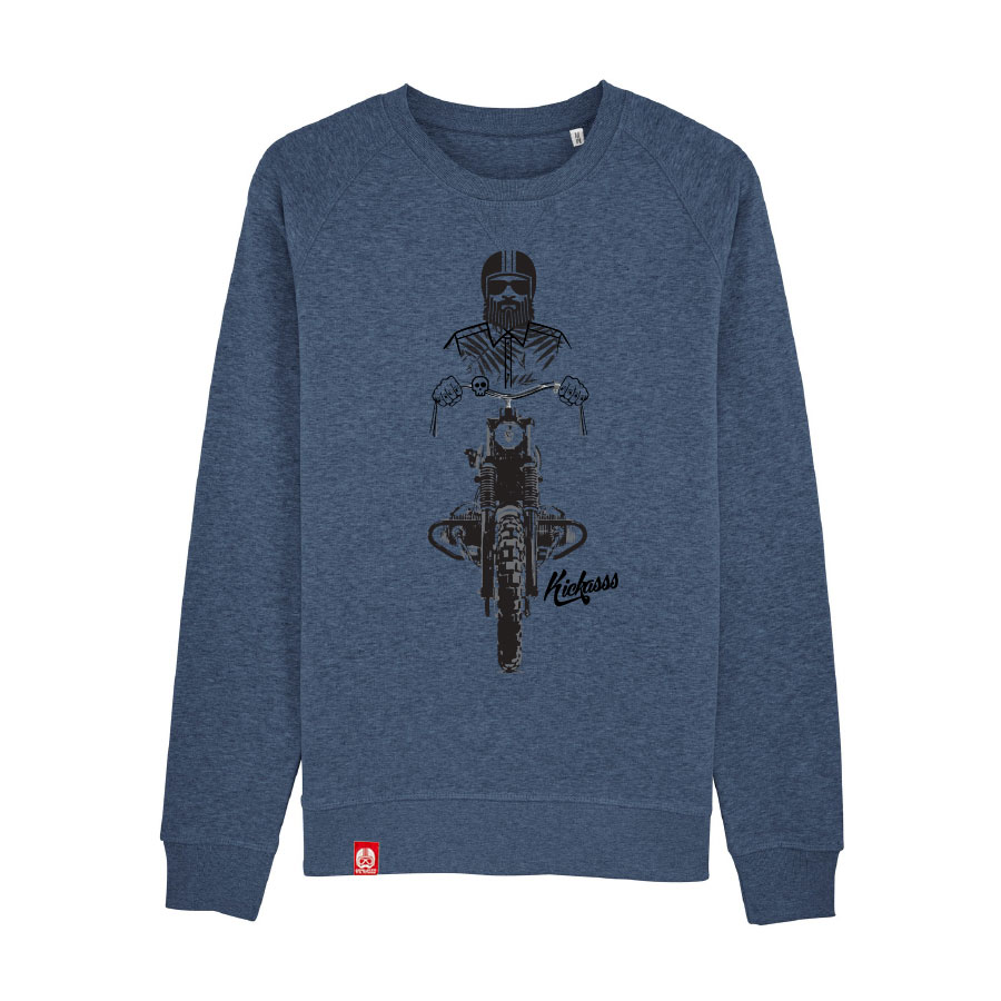 Sweat-shirt Kickasss Driver 19 (dark heather blue)