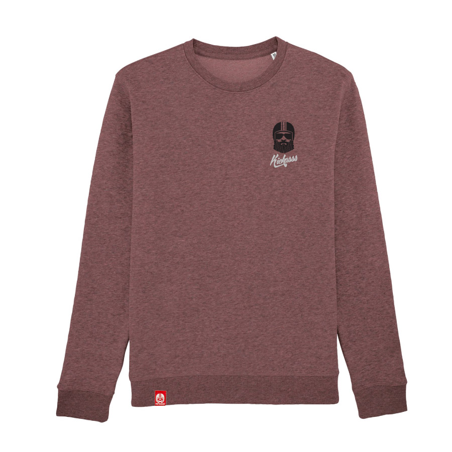 Sweat homme Kickasss Driver Broderie (black heather cranberry)