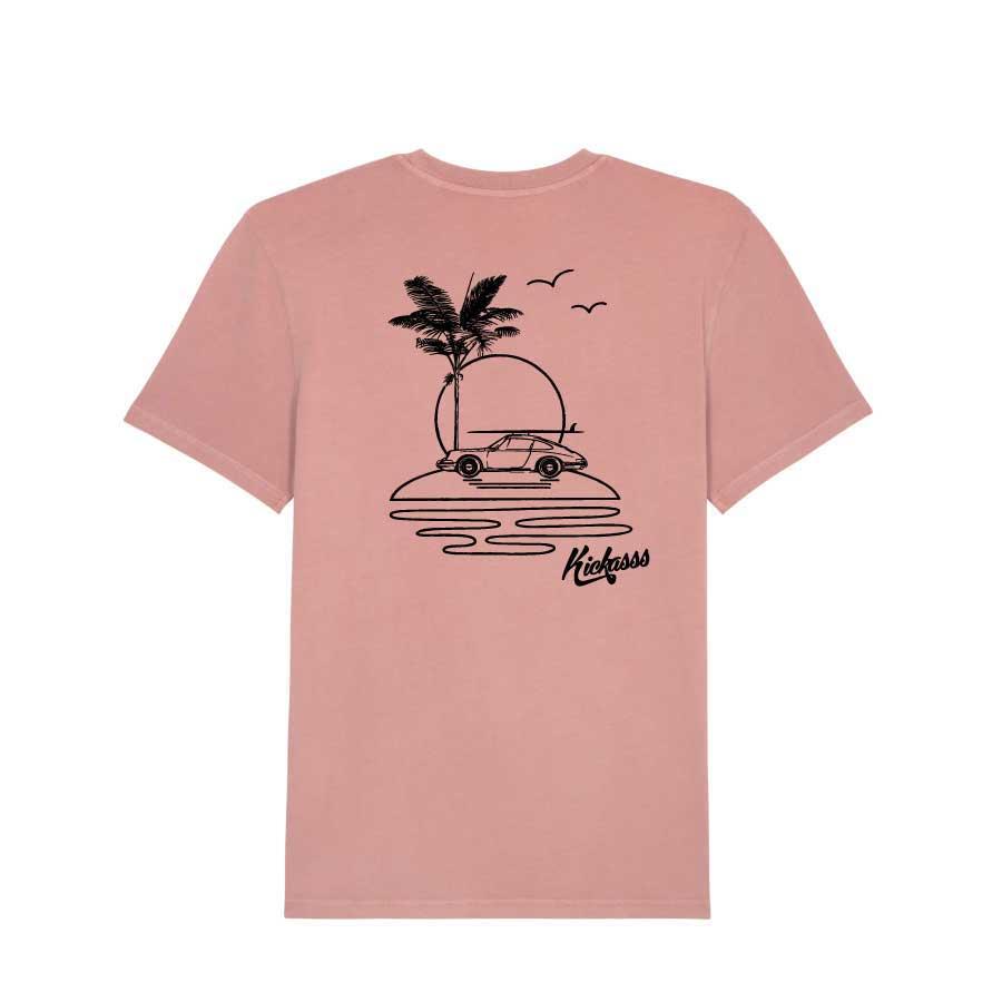 T-shirt numéroté en coton bio Kickasss All I Need (Dyed Canyon Pink)