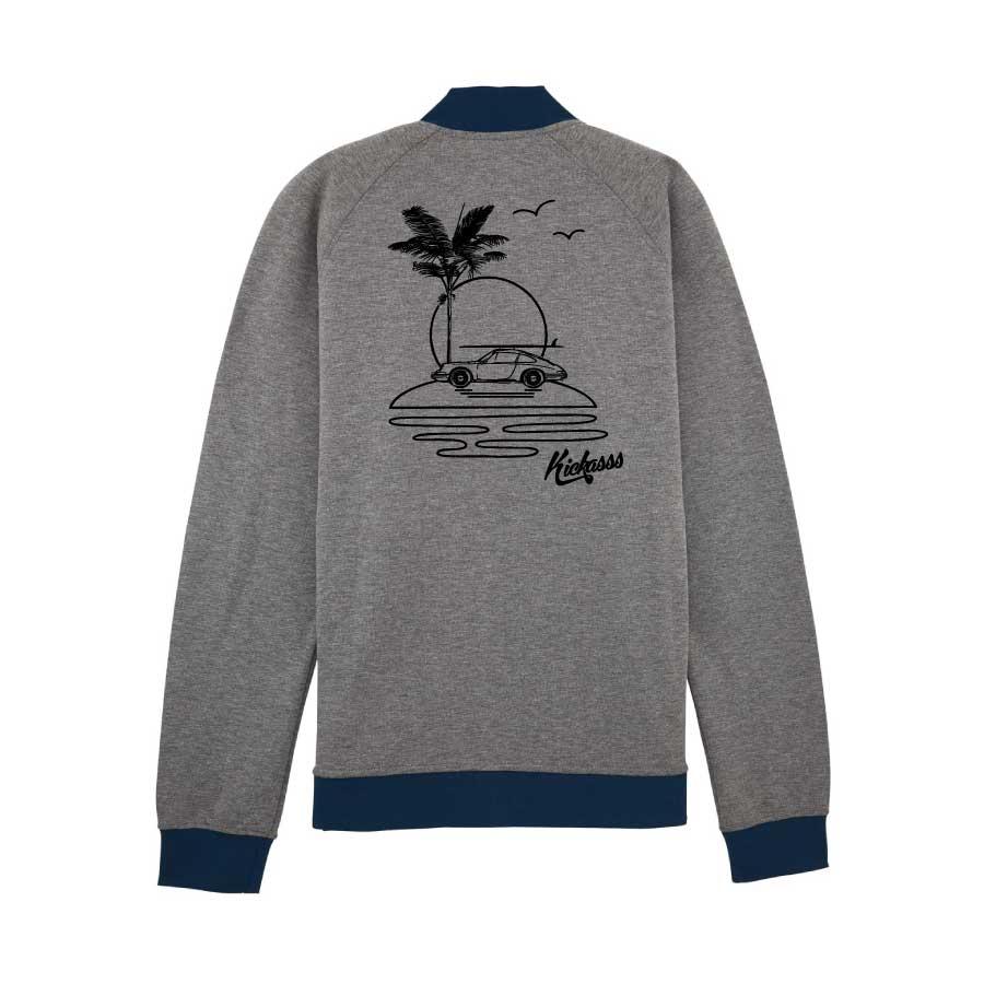 Sweat zippé pour homme Kickasss All I Need (heather grey / navy)