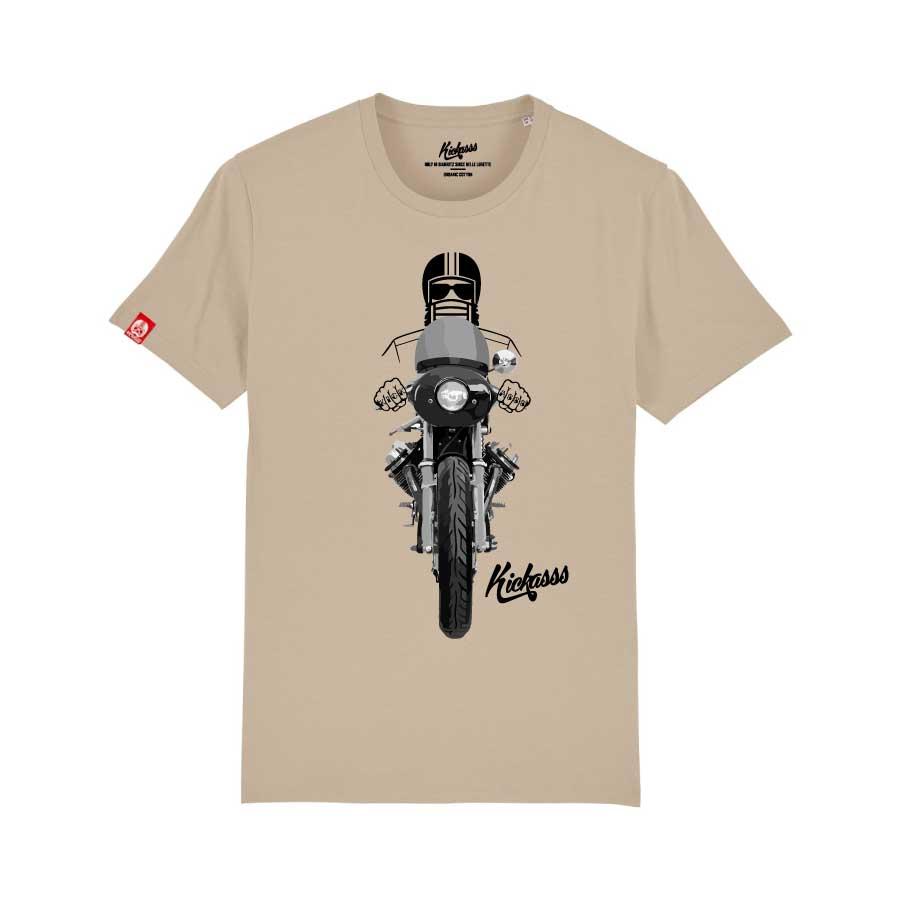 T-shirt numéroté Kickasss moto Driver 20 (desert dust)