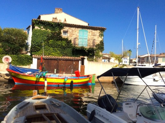 colourful boats in port grimaud