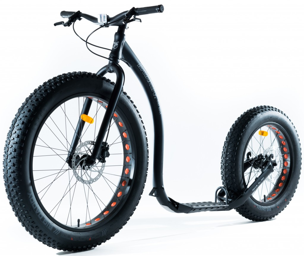 Kickbike FatMax, plateau extra large et pneu basse pression