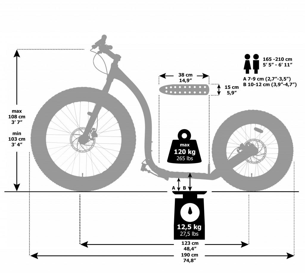 Kickbike Fat Max Dimension