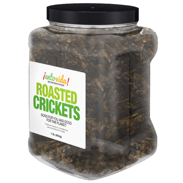 Pound Edible Crickets Whole Roasted