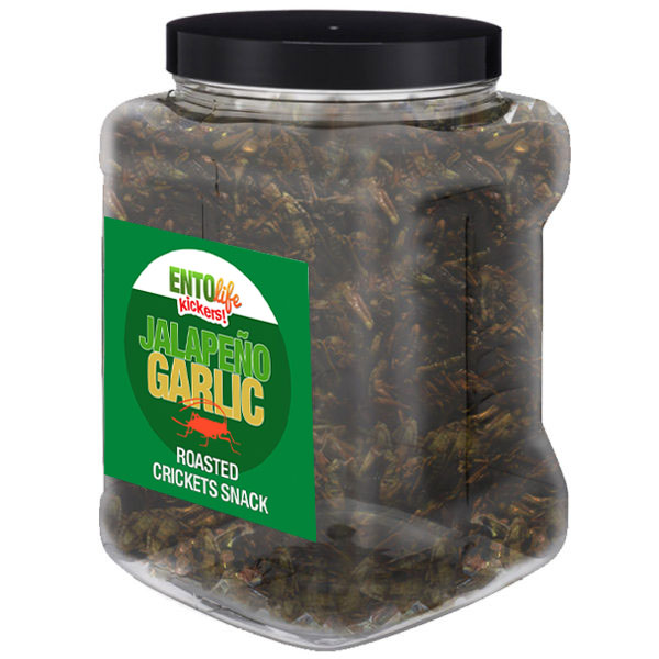 Jar 1lb Crickets Jalapeno Garlic Flavor